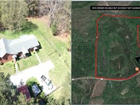 House With 219 Acres Of Big Timber : Talbotton : Talbot County : Georgia
