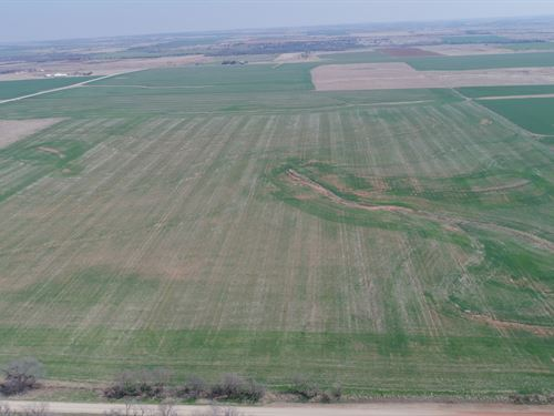 160 Acres Cropland, Pasture & Pond : Marshall : Oklahoma County : Oklahoma