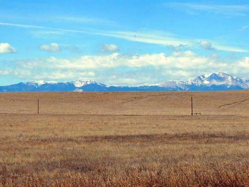 38 Ac Has Beautiful Pikes Peak View : Peyton : El Paso County : Colorado