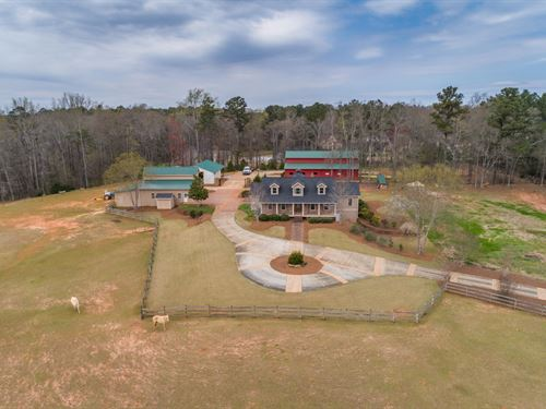 Gated 7 Acre Property W Custom Home : Monroe : Walton County : Georgia
