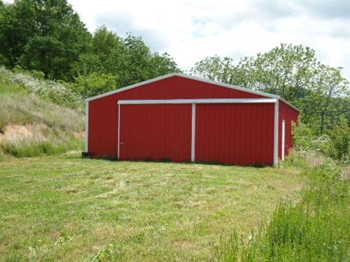 29.Ac W/ 30X50 Drive Thru Pole Barn : Celina : Clay County : Tennessee
