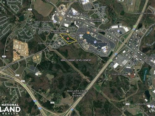 11.5 Acres Development Land Concord : Charlotte : Mecklenburg County : North Carolina