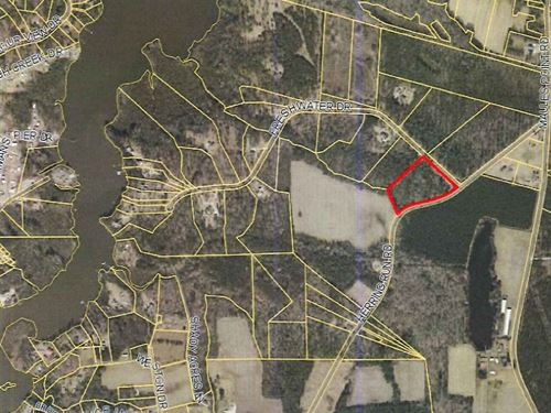 Large 6.91 Acre Wooded Home Site : Blounts Creek : Beaufort County : North Carolina