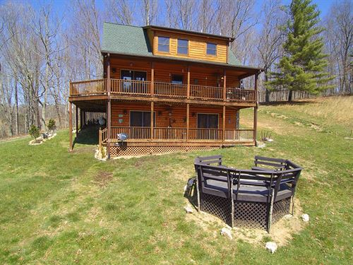 Cabin Close To New River : Piney Creek : Alleghany County : North Carolina