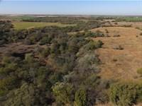 Grassland, Farmland, Living Creek : Covington : Garfield County : Oklahoma