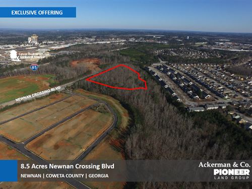 8.5 Acres Newnan Crossing Blvd : Newnan : Coweta County : Georgia