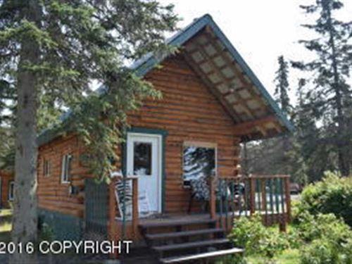 Beachfront Home & Cabin on The Inl : Kenai : Kenai Peninsula Borough : Alaska