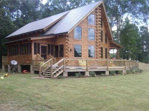 Beauty on The Point, Cedar Log Lo : Aliceville : Sumter County : Alabama