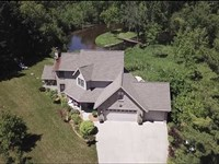 Stunning Home Secluded Setting on : Pine River : Waushara County : Wisconsin