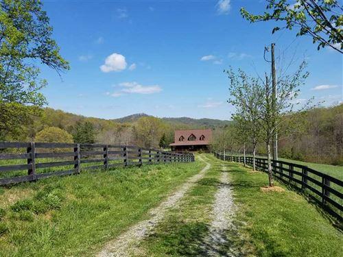 3Bd/2.5Ba Log Cabin on 52 Acres : Lenoir : Caldwell County : North Carolina