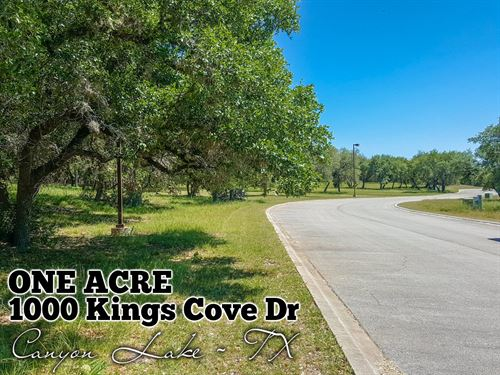 1.09 Acres In Comal County : Canyon Lake : Comal County : Texas
