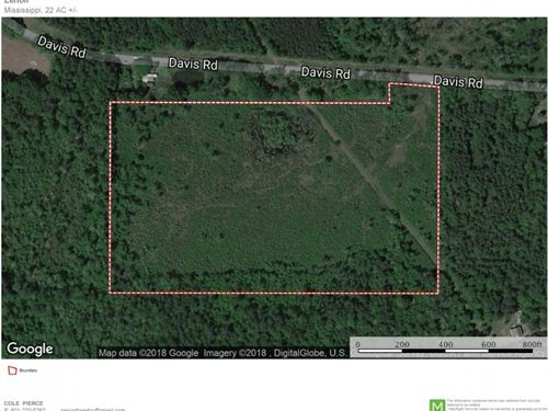 20 Acre Home Site For Sale Purvis : Purvis : Lamar County : Mississippi