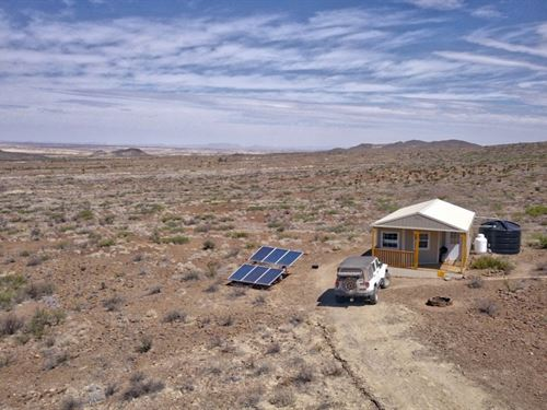 Off Grid Cabin On 40 Acres : Terlingua : Brewster County : Texas