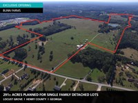 291 Acres Bunn Farms : Locust Grove : Henry County : Georgia