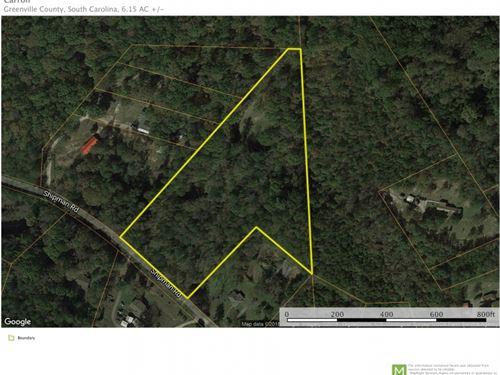 6.15 Unrestricted Acreage Near Trav : Marietta : Greenville County : South Carolina