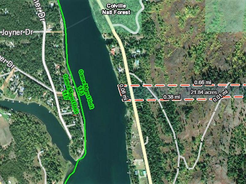 20 Surveyed Riverfront Acres : Ione : Pend Oreille County : Washington