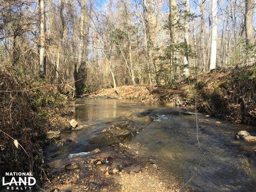 Quiet Lane Homesite With Stream : Lugoff : Kershaw County : South Carolina
