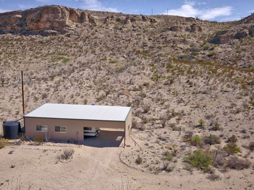 40 Acres With Travel Trailer : Alpine : Brewster County : Texas