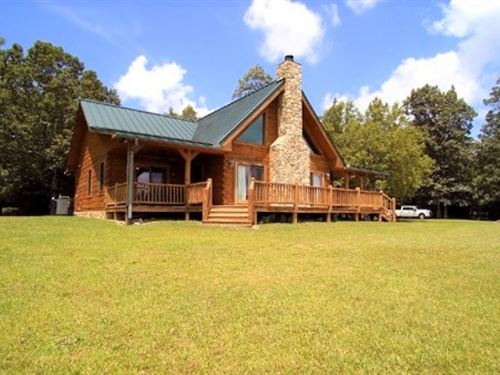 Log Home Estate : Rural Retreat : Grayson County : Virginia