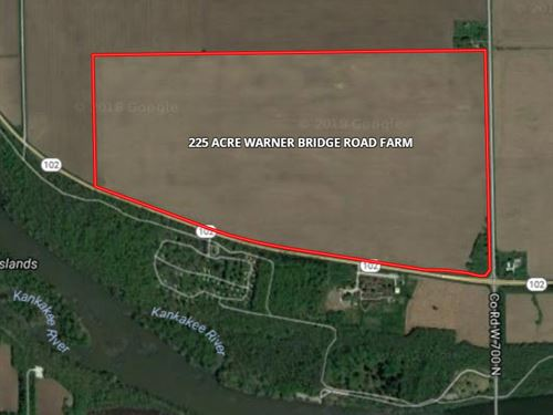 225 Ac Warner Bridge Rd Farm : Willmington : Will County : Illinois