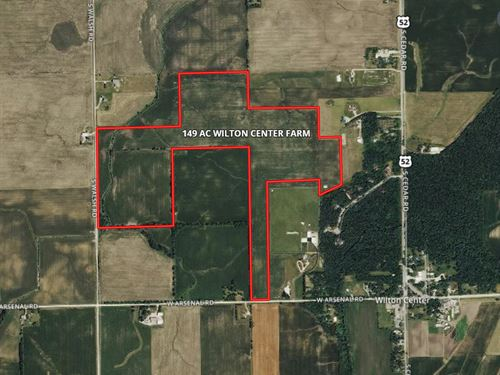 143 Acre Wilton Center Farm : Manhattan : Will County : Illinois