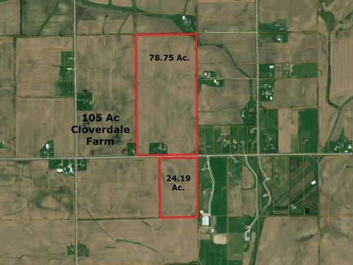 105 Acre Cloverdale Farm : Beecher : Will County : Illinois