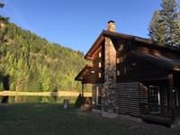 Majestic Misty Pond : Heron : Sanders County : Montana