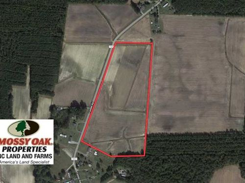 Under Contract, 25.18 Acres of Fa : Lucama : Wilson County : North Carolina