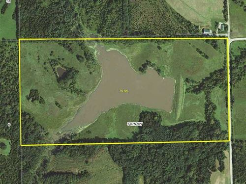 80 Acres, M/L, Recreational Farm : Mount Sterling : Van Buren County : Iowa