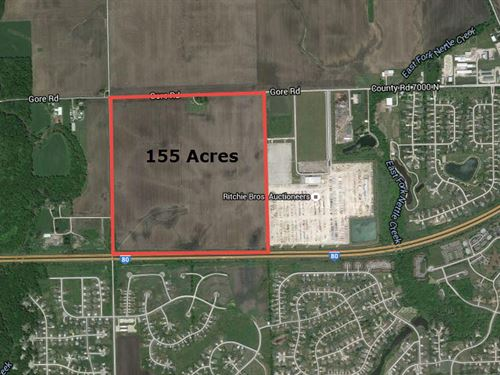 155 Acres Gore Road : Morris : Grundy County : Illinois