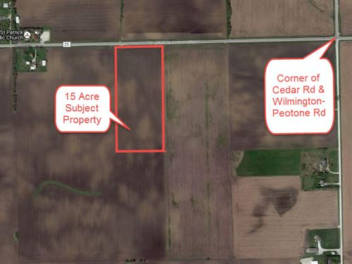15 Ac Wilmington - Peotone Road : Manhattan : Will County : Illinois