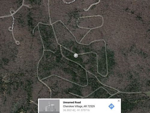 .1 Acres In Cherokee Village, AR : Cherokee Village : Fulton County : Arkansas