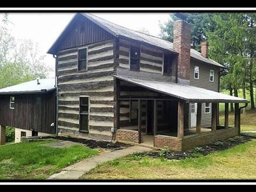 Historic Log Cabin In The Woods : Sugar Grove : Fairfield County : Ohio