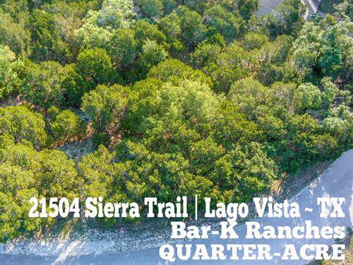 .24 Acres In Travis County : Lago Vista : Travis County : Texas