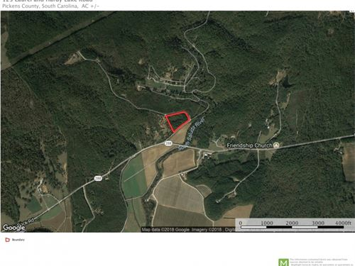 5.9 Acre Lot Available For Cust : Marietta : Pickens County : South Carolina
