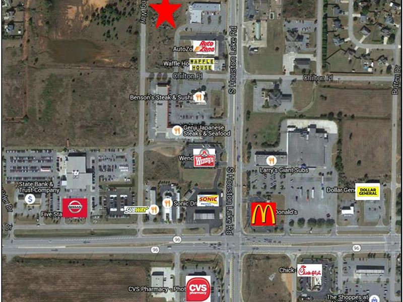 commercial development site land for sale warner robins