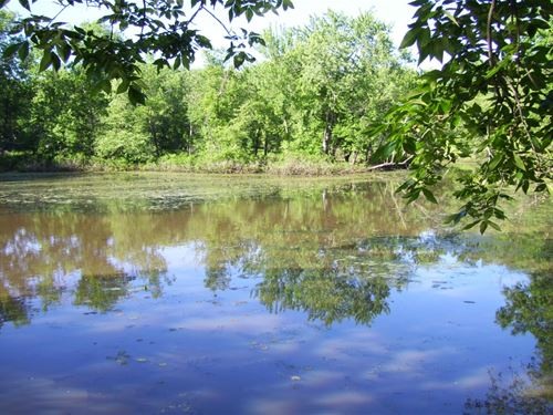 3 Acres Wooded Waterfront : Portage : Columbia County : Wisconsin