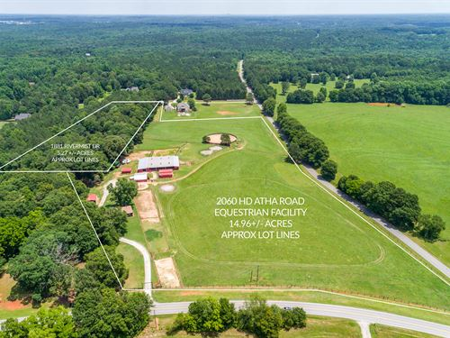 Farm W 3 Barns, 13 Stalls, & More : Monroe : Walton County : Georgia