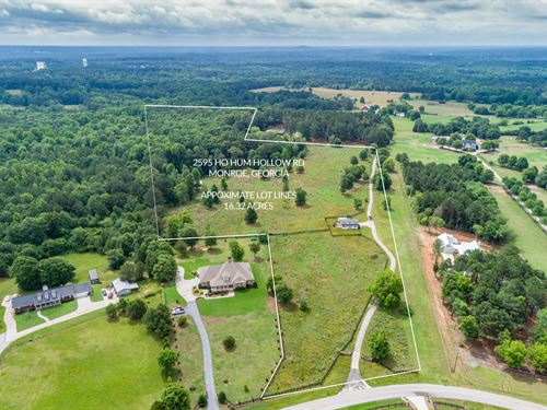 Beautiful 18.762 Acre Tract Of Land : Monroe : Walton County : Georgia