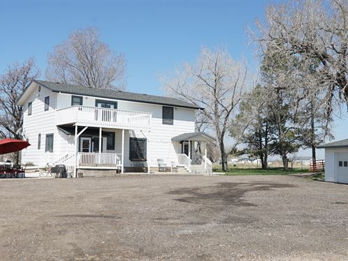 South Platte Farm House : Kersey : Weld County : Colorado