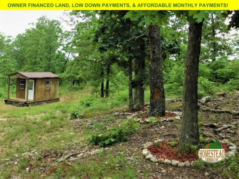 Ozark Off-Grid Retreat With Cabin : Land for Sale by Owner