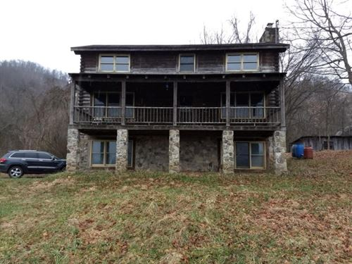 Beautiful Log Home On 57.64 Acres : Sneedville : Hancock County : Tennessee