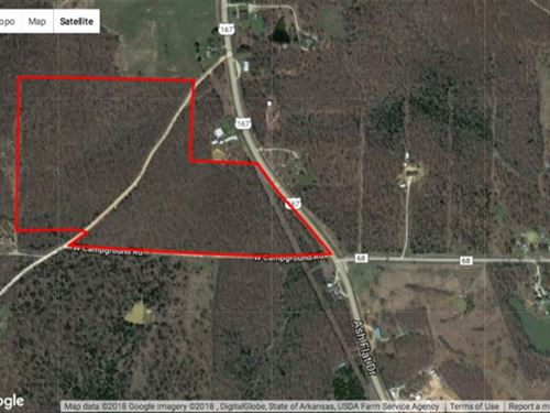 53 Acres, Highway 167 Frontage : Ash Flat : Sharp County : Arkansas