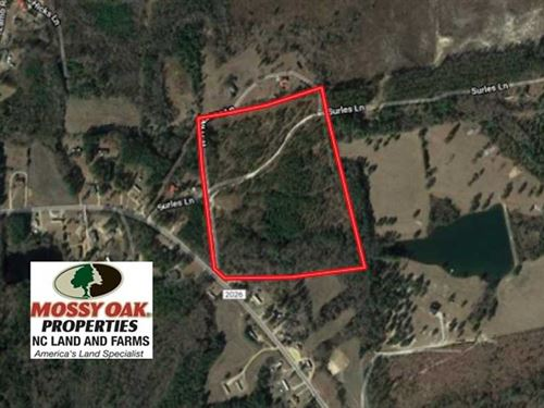 25 Acres of Residential Timber Lan : Bunnlevel : Harnett County : North Carolina