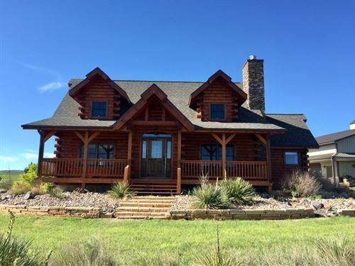 Dundy County Log Home Acreage : Haigler : Dundy County : Nebraska