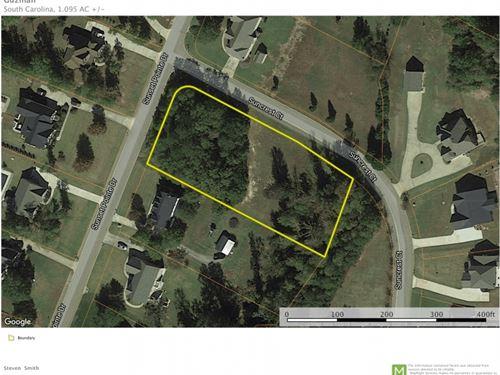 1.09Acres Residential Lot Sunse : Lyman : Spartanburg County : South Carolina