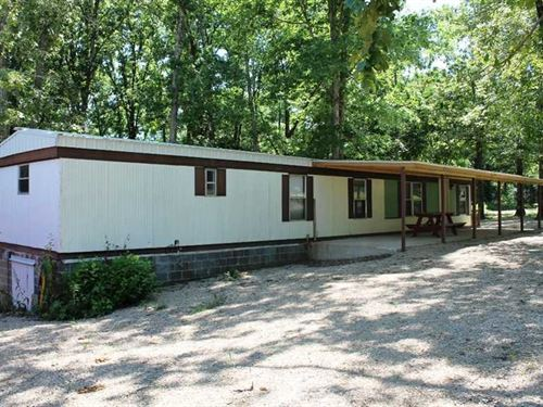 Mobile Home On.5 Acre Lot at Lake : Wappapello : Butler County : Missouri