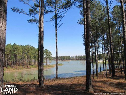 Beautiful Lake Property With Lodge : Kosciusko : Attala County : Mississippi