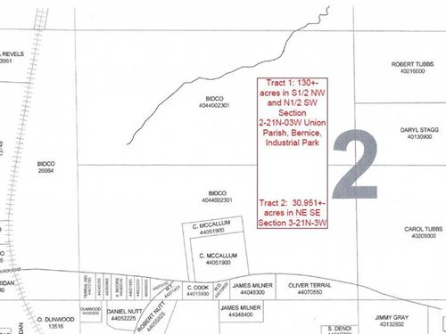 Industrial Park Property : Bernice : Union Parish : Louisiana