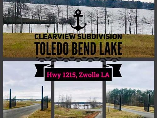 Toledo Bend Clearview Gated Subdiv : Zwolle : Sabine Parish : Louisiana